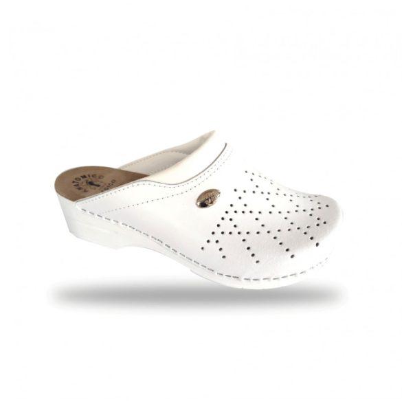 Fratelli Babb női papucs - kényelmi klumpa D23 Bianco