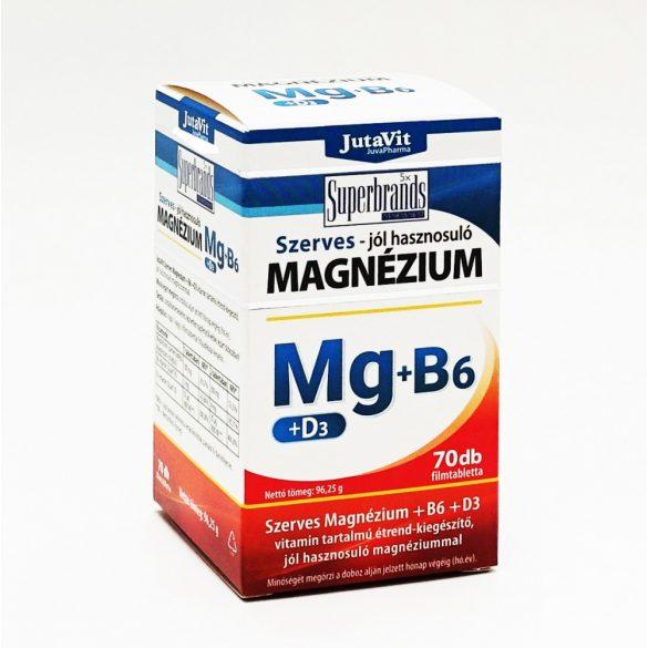 JutaVit Szerves Magnézium + B6 + D3 filmtabletta 70x