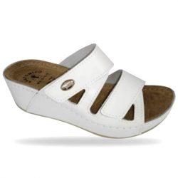 Fratelli Babb komfort papucs - divat papucs D108 Bianco