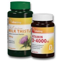 Megújulás csomag: Máriatövis kapszula 90db + D3-vitamin 4000NE 90db