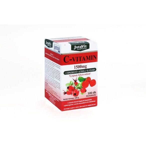 JutaVit C-vitamin 1500mg csipkebogyó+acerola tabletta 100 db