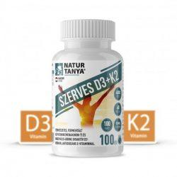 Natur Tanya® D3 és K2-VITAMIN EGYÜTT! 4000IU D3-vitamin és 60mcg K2 kivonat 1 tablettában! 100x