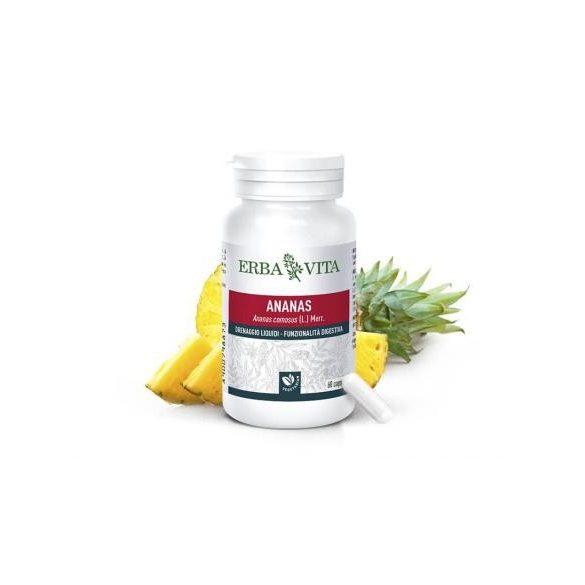 ErbaVita® Mikronizált Ananász kapszula Vcaps® tokban - extra bromelán enzim és 3 szabadalom! 60x