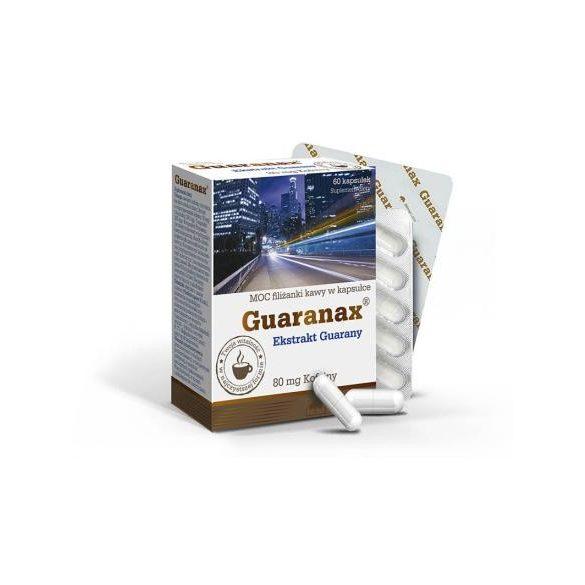 Olimp Labs® Guaranax™ Guarana kapszula - késleltetett feszívódású növényi koffein forrás. Standardizált guaranin tartalom! 60x