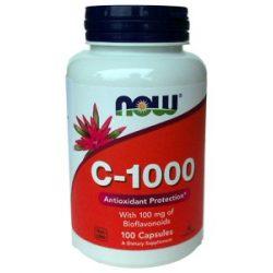 Now C-vitamin 1000 C vitamin kapszula bioflavonoiddal 100db