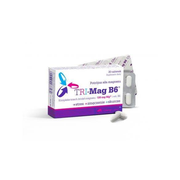 Olimp Labs® TRI-Mag B6™ - 3 magnéziumsó együtt: magnézium-karbonát, magnézium-laktát, magnézium-malát 30x
