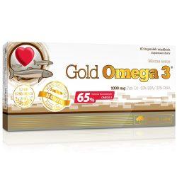Olimp Labs® Gold Omega3®+ E kapszula 60x - Magas EPA (330mg) és DHA (220mg) Zsírsav tartalommal (F-vitamin)