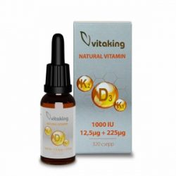 Vitaking D3+K2+K1 vitamin csepp 10ml (160 adag)