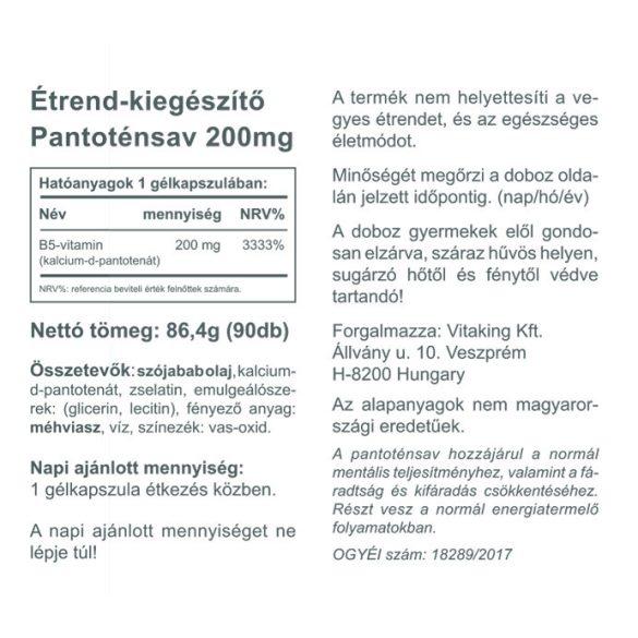 Vitaking Pantoténsav – B5 vitamin 90x
