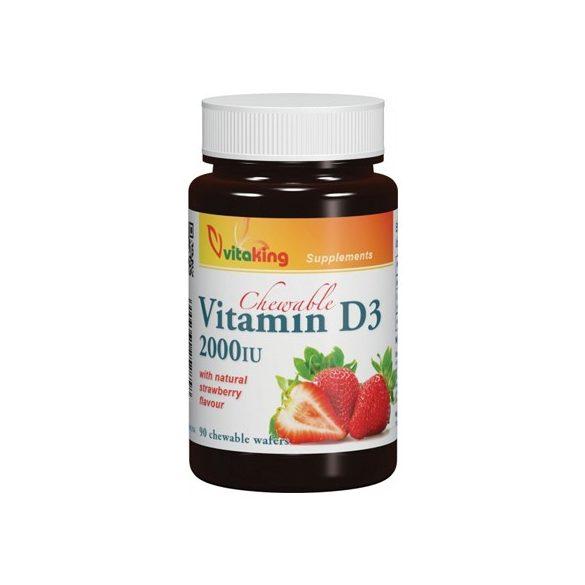 Vitaking D3-vitamin epres – 30db rágótabletta