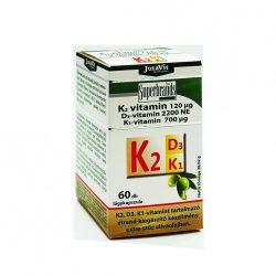 JutaVit K2-vitamin 120µg – D3-vitamin 2200NE – K1-vitamin 700µg 60 db