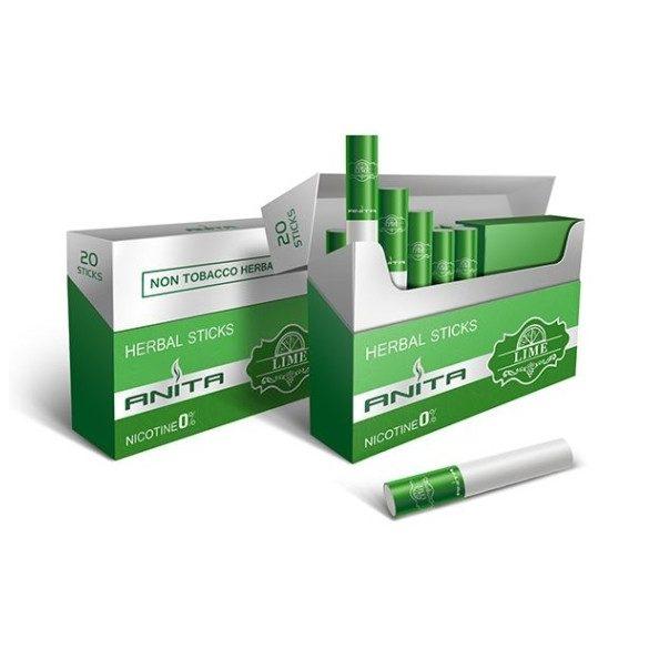 ANITA Lime ízű nikotinmentes hevítőrúd - 1 karton - 10 doboz + ajándék 1 doboz
