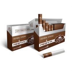 ANITA Kávé ízű nikotinmentes hevítőrúd - 1 karton - 10 doboz + 1 ajándék doboz