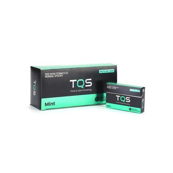 TQS – mentol ízű dohány és nikotinmentes hevítőrúd 1 karton - 10 doboz + 1 ajándék doboz
