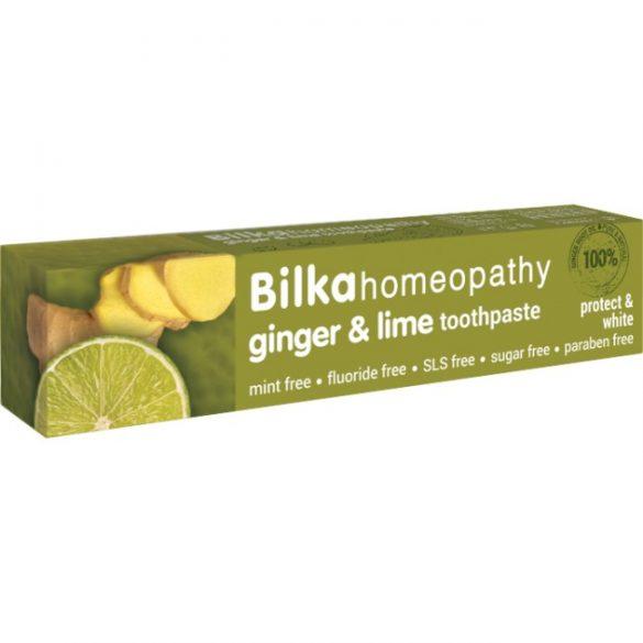 Bilka Homeopathy Gyömbér & Lime ízű fehérítő fogkrém SLS-mentes 75 ml