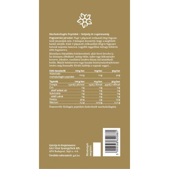 GAL Marhakollagén peptidek – 300g