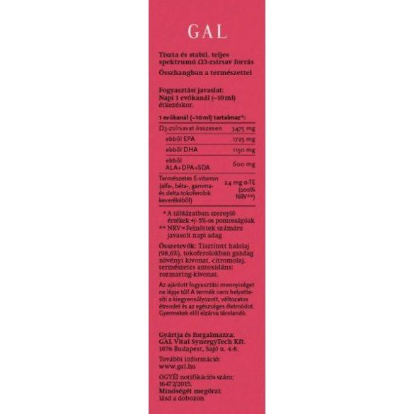 GAL Halolaj 250 ml, 3475 mg Omega-3 / evőkanál