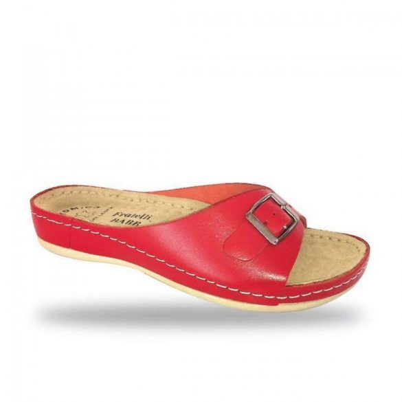 Fratelli Babb bio papucs - komfort papucs D95 Rosso