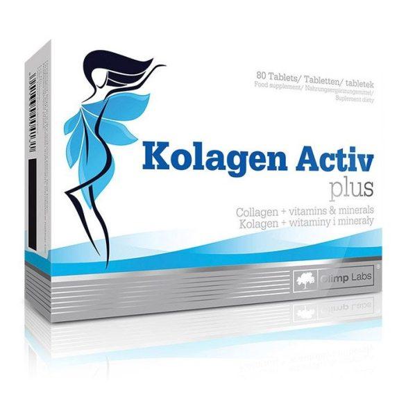 Kollagén Activ plus tabletta. Szabadalommal védett kollagén matrix a haj, bőr, körmök, porcok egészségéért. 80 x