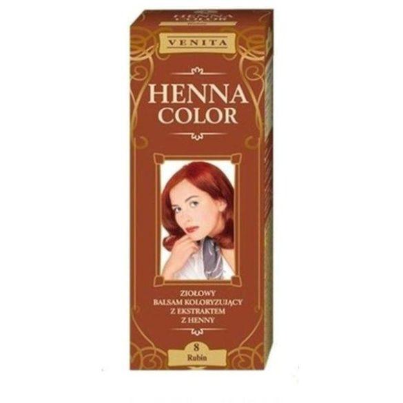 Venita Henna Color hajszínező balzsam 8 Rubinvörös 75ml