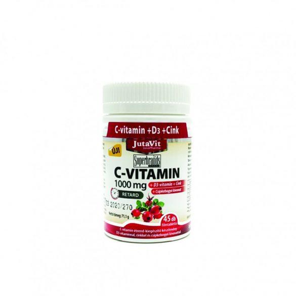 JutaVit C-vitamin 1000mg retard csipkebogyós tabletta 45 db