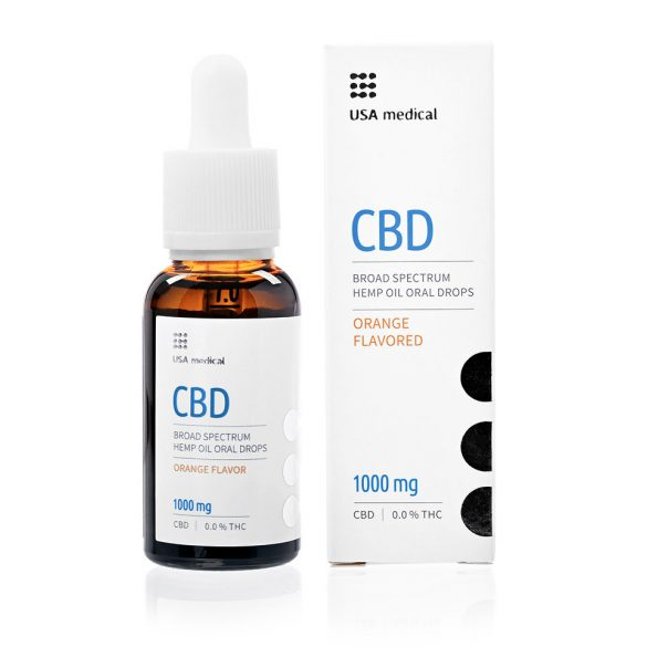 USA Medical CBD olaj 1000mg 30 ml