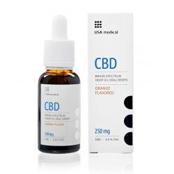 USA Medical CBD olaj 250mg 30 ml