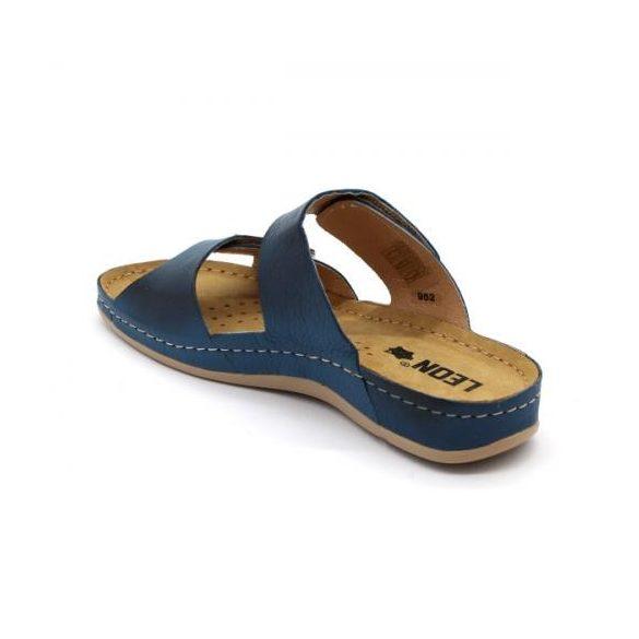 Leon 952 női bőr papucs - kék