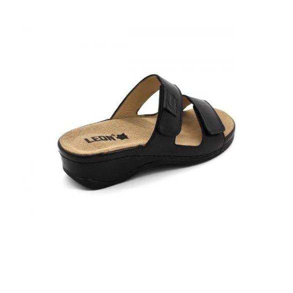 Leon 2020 Női bőr papucs - fekete