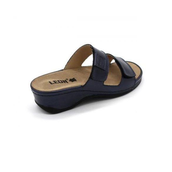 Leon 2020 Női bőr papucs - kék