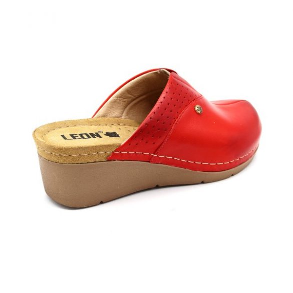 Leon női papucs – 1002 Piros