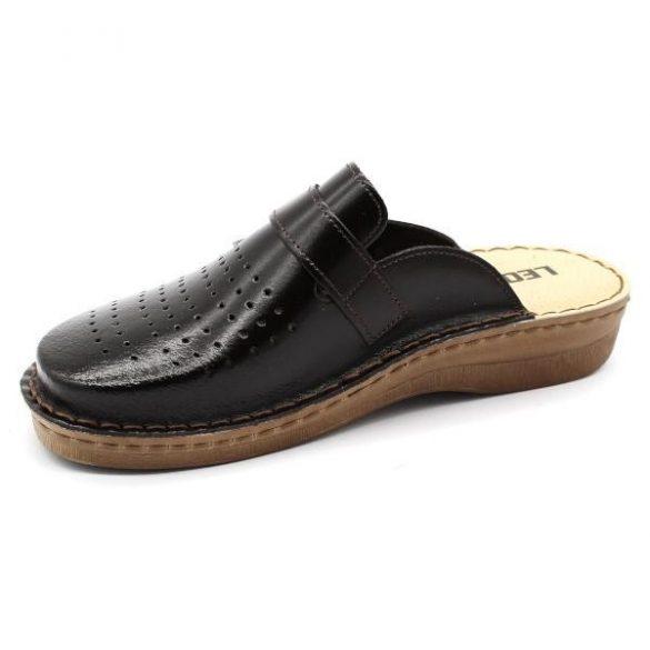 Leon V230 Férfi bőr papucs - fekete