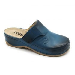 Leon 2019 Női bőr papucs - kék