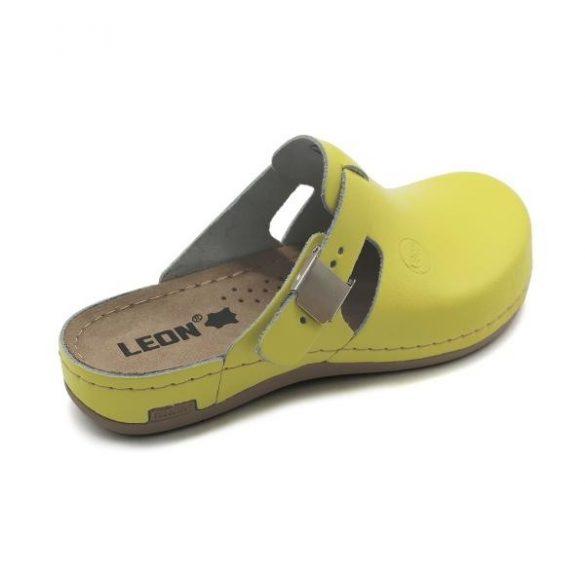 Leon 950 Női bőr papucs - citromsárga
