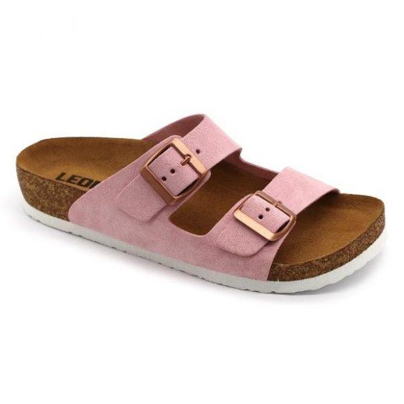 Női Leon bőr papucs – 4010 - rosé