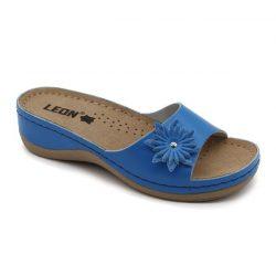 Leon papucs - 915 Női bőr papucs - kék