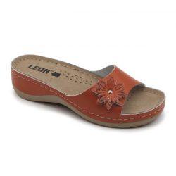 Leon papucs - 915 Női bőr papucs - barna