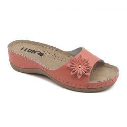 Leon papucs - 915 Női bőr papucs - korall