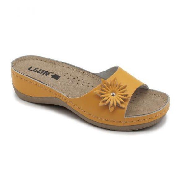 Leon papucs - 915 Női bőr papucs - narancssárga