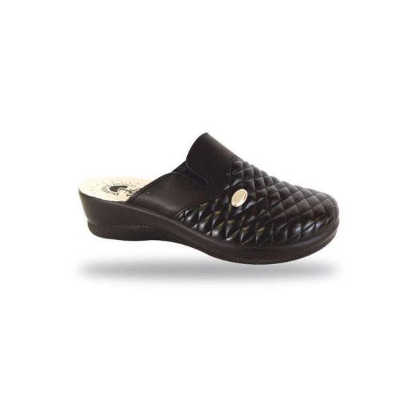DrMonteBosco női papucs - komfort papucs 6204 Nero
