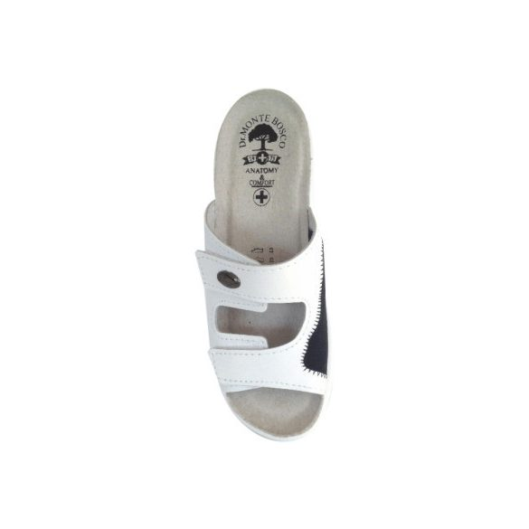 DrMonteBosco női papucs - 181 Bianco női komfort papucs