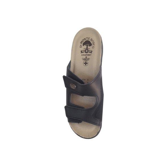 DrMonteBosco női papucs - 181 Nero női komfort papucs