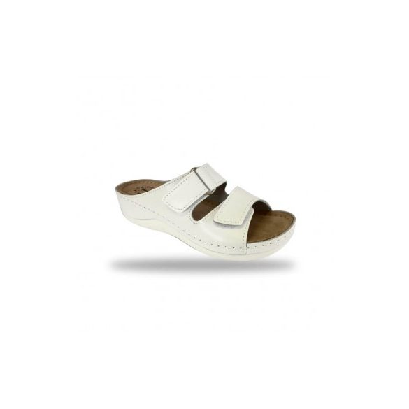 Fratelli Babb komfort papucs -  kényelmi papucs D303 Bianco