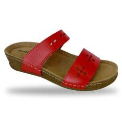 Fratelli Babb komfort papucs - divat papucs D191 Rosso