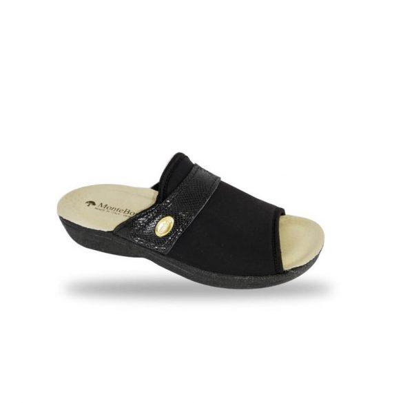 DrMonteBosco női papucs - 1416 Nero női komfort papucs