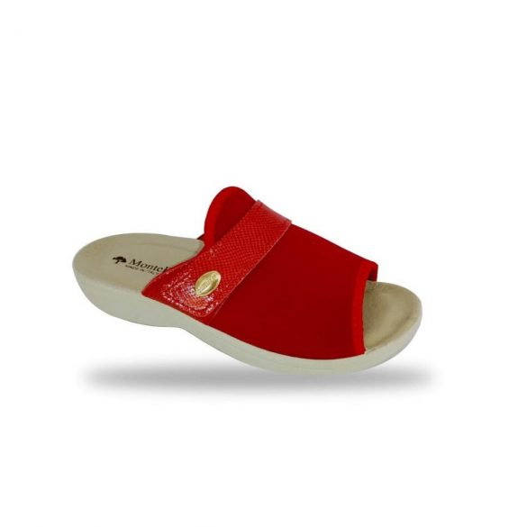 DrMonteBosco női papucs - 1416 Rosso női komfort papucs