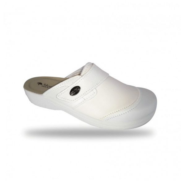 DrMonteBosco fehér női papucs - 1468 Bianco elasztikus kímélő komfort papucs