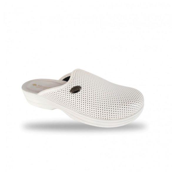 DrMonteBosco kímélő elasztikus női papucs - 514 Bianco komfort papucs