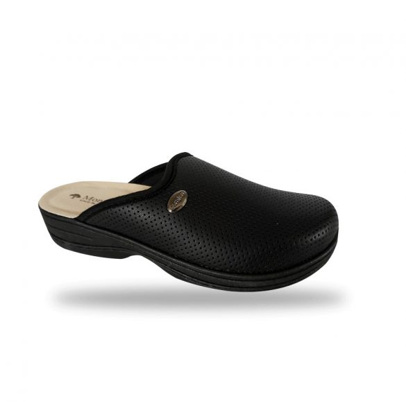 DrMonteBosco kímélő elasztikus női papucs - 514 Nero komfort papucs