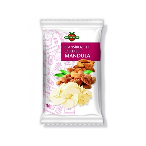 Naturfood Szeletelt mandula 75g